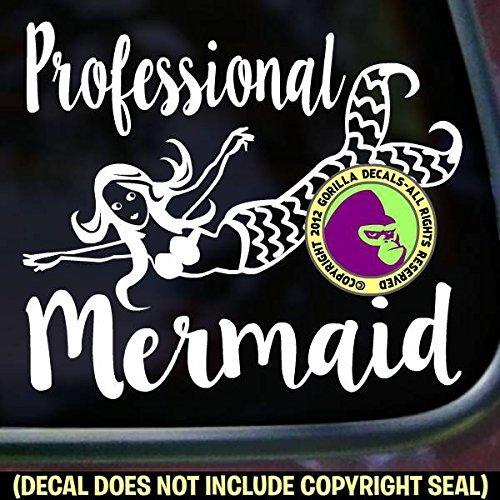 PROFESSIONAL MERMAID Diver Diving Vinyl Decal Sticker E