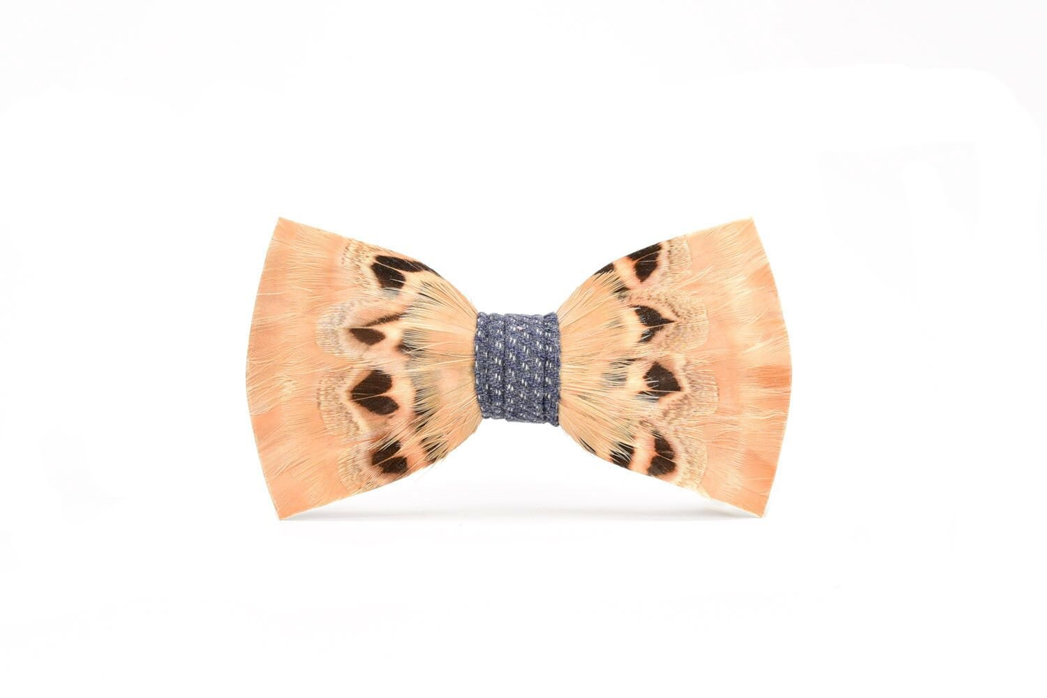 Brackish Sullivan Pheasant and Partridge Feather Mens Bow Tie (BRK-199)