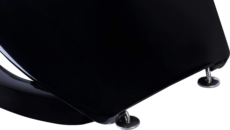 duroplast color negro Asiento de inodoro Cornat Cetina KSCET50