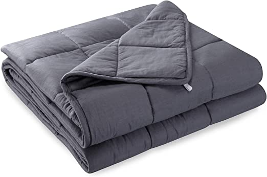 48 72 15lbs Weighted Blanket with 100/% Cotton Fabric and Premium Glass Beads Filling 48 72 15lbs Weighted Blanket with 100/% Cotton Fabric and Premium Glass Beads Filling JOGVELO Weighted Blanket Adult