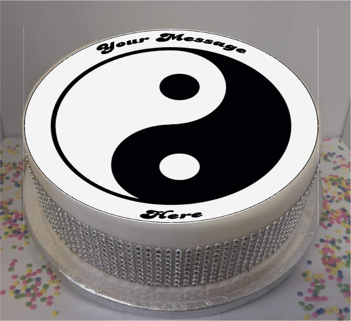 Brilliant Sprinkles Toppers Ltd Personalised Peace Ying Yang 19Cm 8 Personalised Birthday Cards Cominlily Jamesorg