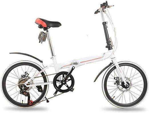 Freno De Disco Plegables Del Coche De 20 Pulgadas Bicicleta Plegable De Lujo Plegables Bicicleta Mini Estudiante Equipo Del Montar A Caballo Del Regalo Del Coche De La Bicicleta,White-26in: Amazon.es: Hogar