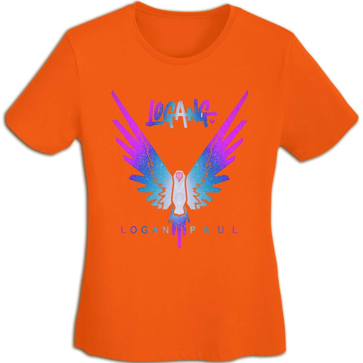 Women's T Shirt Jake Paul Logang Logan Paul Maverick Tee Shirts T-Shirt Short-Sleeve Round Neck Tshirt for Womens Girls Orange M by BKashy