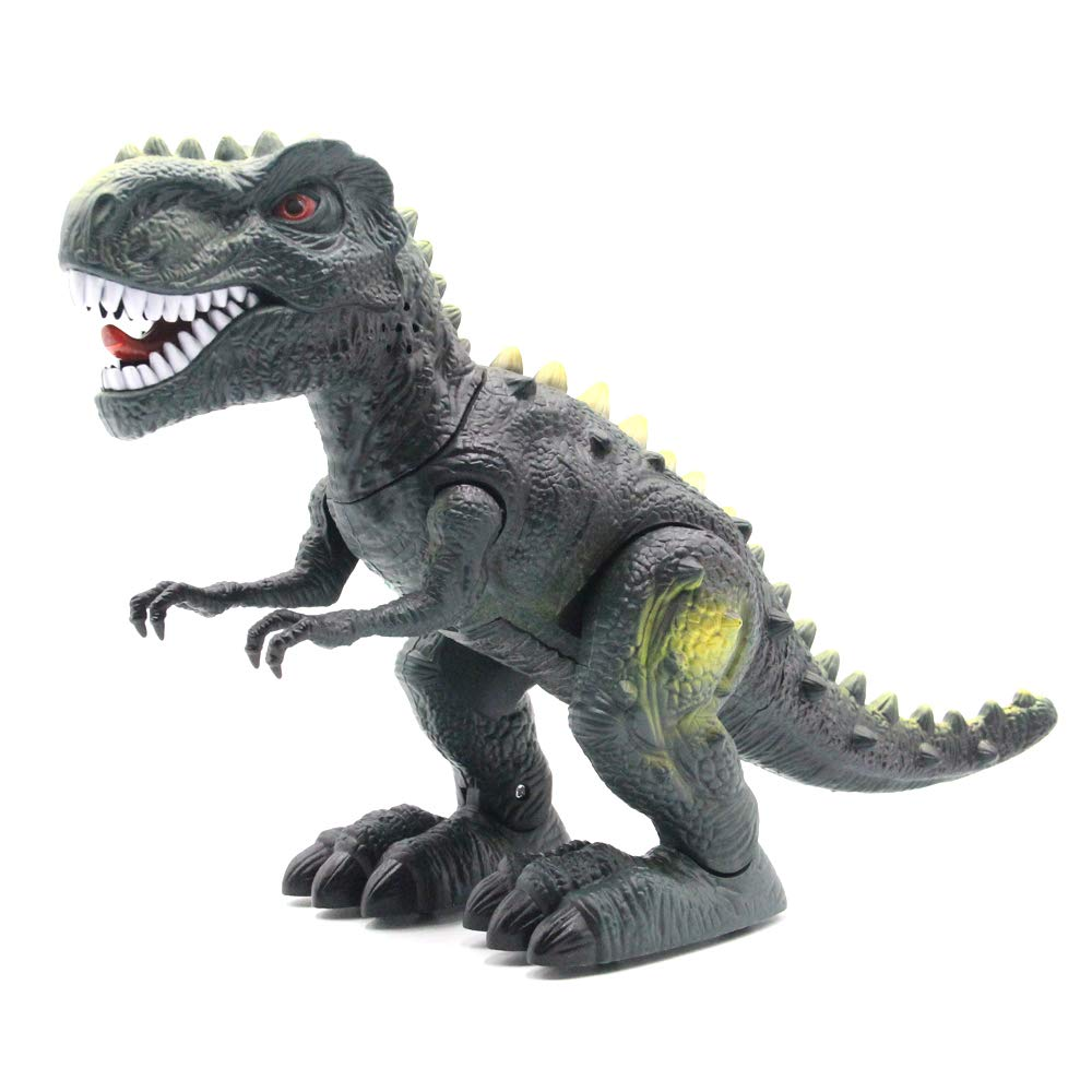 CISAY Dinosaur Toys,D33 Electronic Real Walking Dinosaurs with LED Lights and Dinosaur Sounds