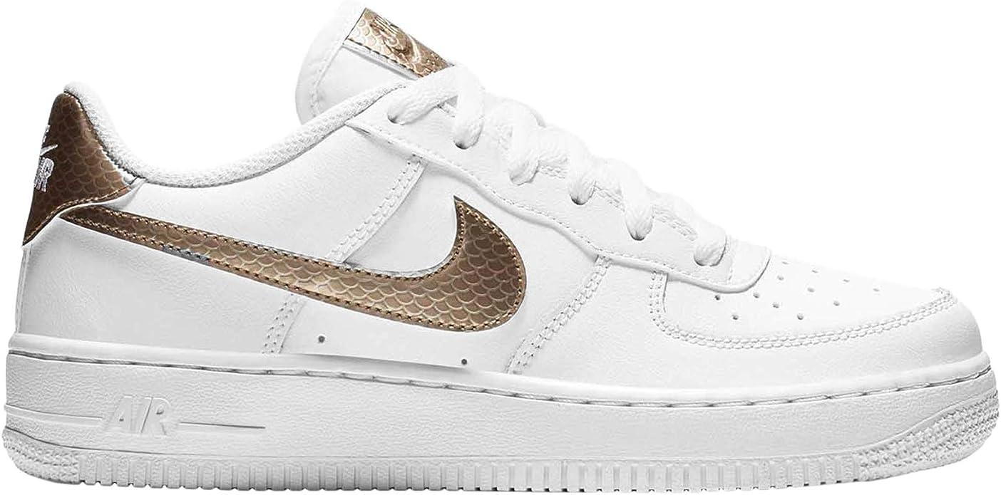 Nike Air Force 1 EP (GS), Zapatos de Baloncesto para Niñas, (White ...