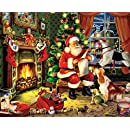 White Mountain Puzzles Checking It Twice - 1000 Piece Jigsaw Puzzle