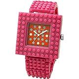 [ナノブロック]nanoblock デコレーション腕時計 デコって遊べるリストウォッチ チェンジベゼル チェンジベルト おまけブロック付 ピンク×レッド NAW-3410PB