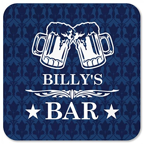(Billy's Classy Beer Bar Coaster: Square Plastic Coaster)