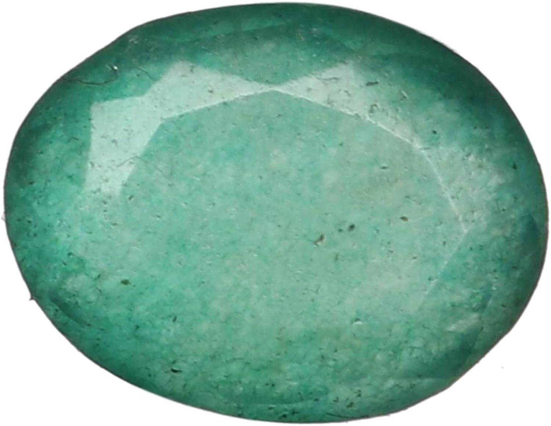 Real Gems Piedra Preciosa Esmeralda Verde brasileña Natural certificada de 7.00 Quilates, Piedra Esmeralda Verde facetada de tamaño pequeño de Forma Ovalada para joyería de Anillo