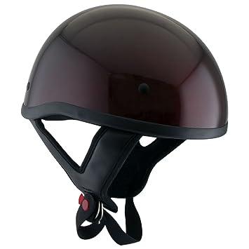 Outlaw T68 Dot vino motocicleta casco de mitad de calavera – pequeño