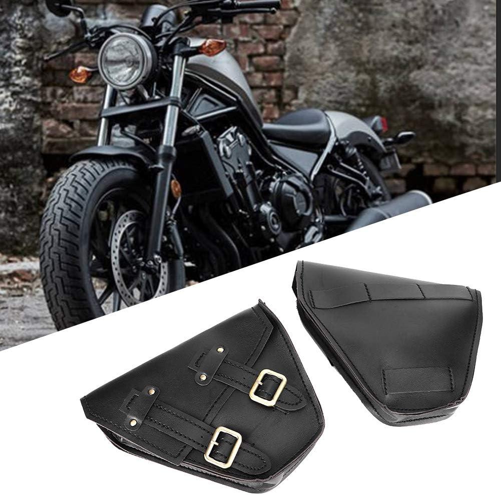 Black 1 Pair Left Right Motorcycle Side Storage Saddle Bag Fit for Honda CMX 300 500 17-18 Qiilu Motorcycle Saddle Bag