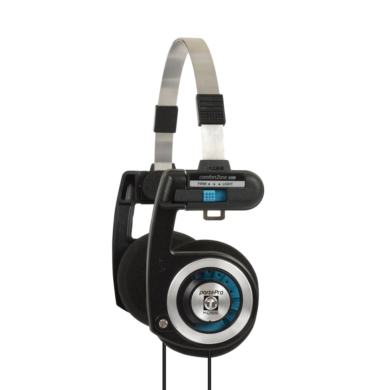 Koss Porta Pro On Ear Headphones with Case, Black / Silver