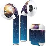 Air Pods 専用 デザインスキンシール airpods エアポッド apple アップル イヤフォン イヤホン カバー デコレーション アクセサリー エアフリー デコシール 花火 カラフル 013803