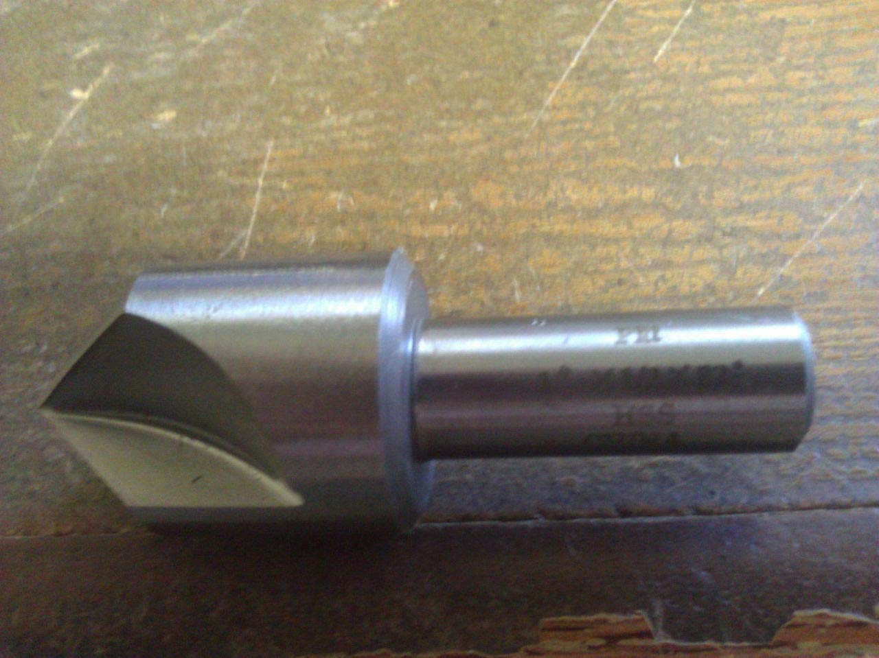 1 60 Degree HIGH Speed Steel 3 Flute Countersink 1//2 Shank