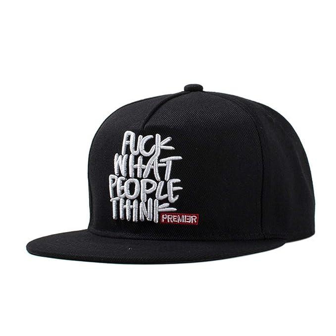 0dbc4beeb04 SINXE 2019 Snapback Baseball Cap Flat-Brimmed hat Visor hat Wild  Personality Hip hop Hats for Men Women Black at Amazon Women s Clothing  store