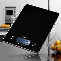 ميزان مطبخ رقمي دقيق للطعام مع شاشة ال سي دي تعمل باللمس باضاءة خلفية بمجال من 1غرام/ 5 كغم وثلاث واحدات غرام / باوند…