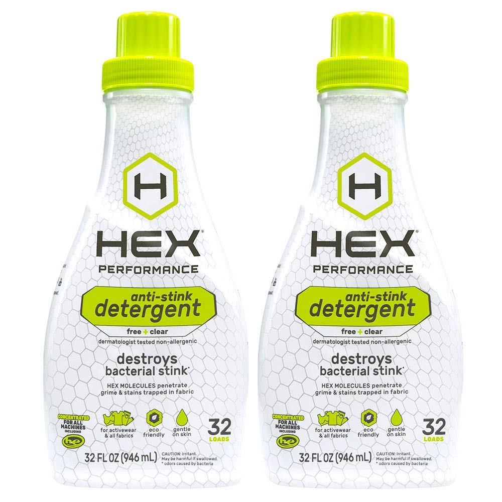 HEX Performance Anti-Stink Laundry Detergent, Free + Clear, 32 Load (Pack of 2) by HEX Performance