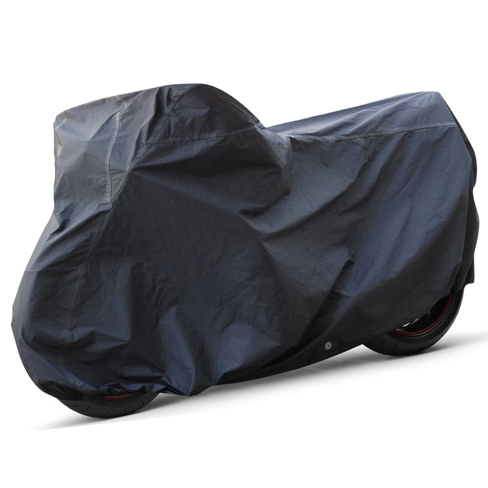 OxGord Executive Storm-Proof Motorcycle Cover - 100% Water-Proof 7 Layers - Ready-Fit / Semi Custom - Fits up to 97 Inches CMTC-745-XL