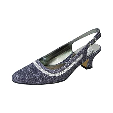 b96bb81fdba7f Floral Priya Women Wide Width Slingback Pump Nice for Dress or Elegant  Affairs