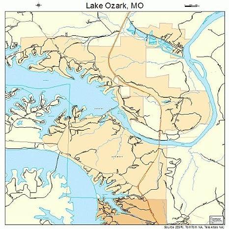 Amazon Com Large Street Road Map Of Lake Ozark Missouri Mo