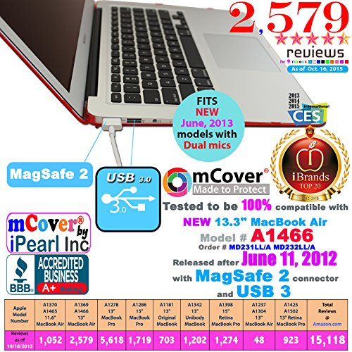 mCover iPearl Hard Shell Cover Case with Free Keyboard Cover for 13.3-inch Apple MacBook Air A1369 & - http://coolthings.us