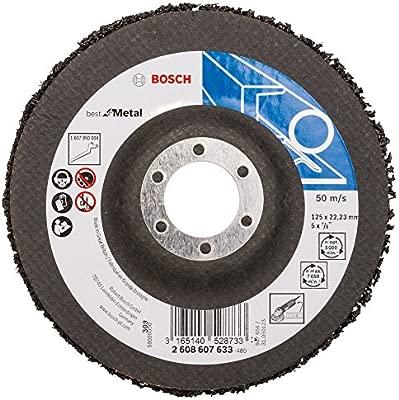 Bosch Professional 2608607633 Metal 125mm Cleaning Fleece 125 mm Black