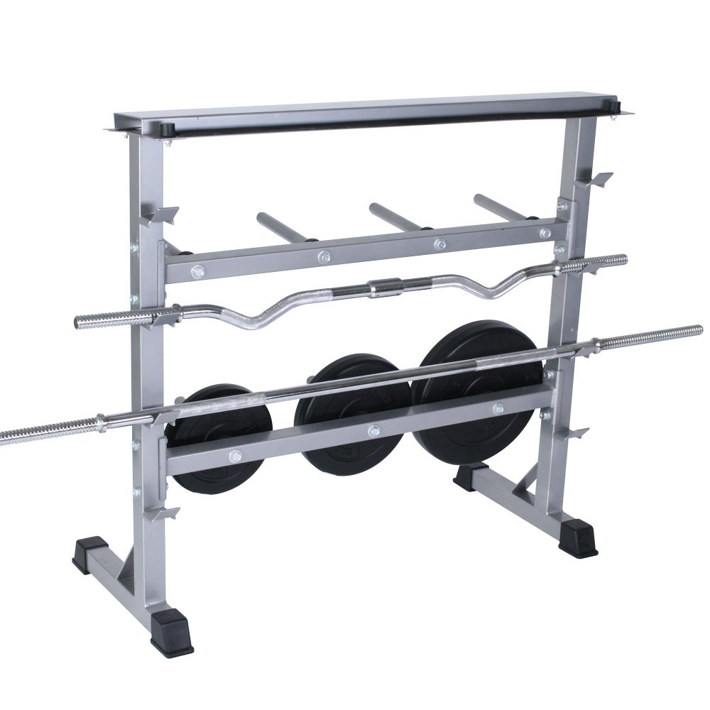 physionics dumbbell u0026 barbell weights storage rack stand holder cm capacity 300 kg amazoncouk sports u0026 outdoors