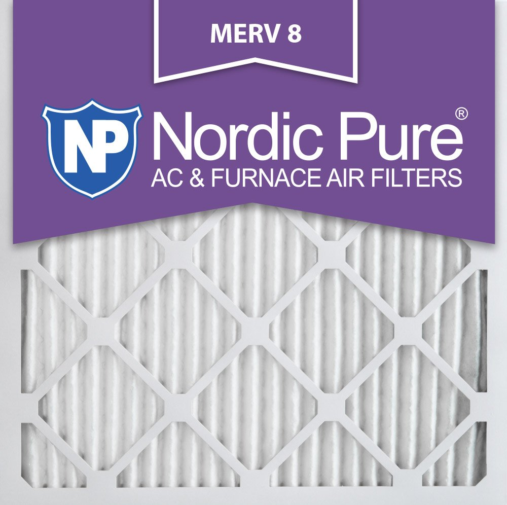Nordic Pure 18x20x1 MERV 8 Pleated AC Furnace Air Filters 18x20x1 12 Pack