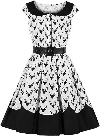 CLOOM Sexy Vestidos Vintage Retro 50s Medieval Falda Plisada Moda ...