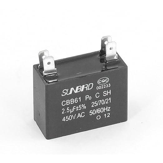 Aexit 450V 2.5uF 4-pin Condensador de lavadora de (model ...