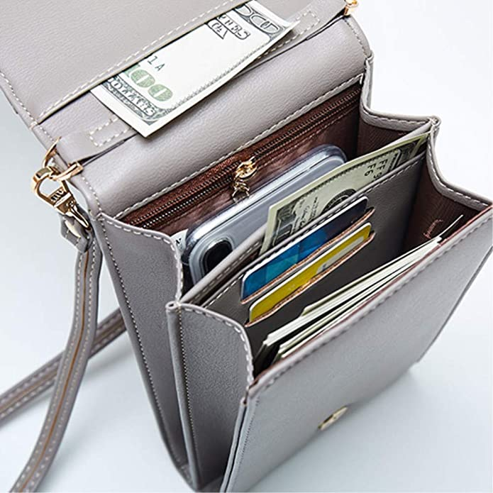 Yosorld Small Crossbody Bag Cell Phone Purse Wallet with Credit Card Slots for Women Black
