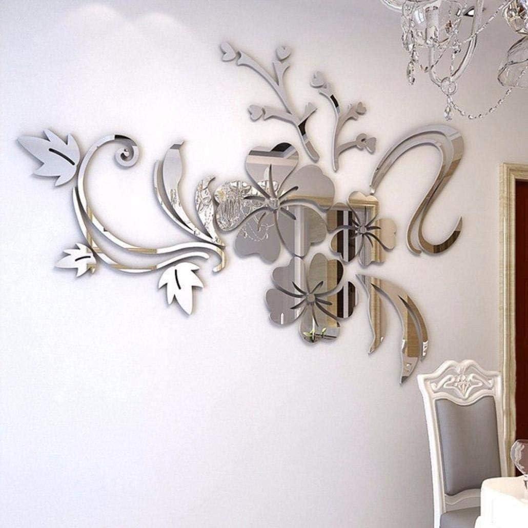 3D Pegatinas de Pared Vinilos /Árbol con Hoja Purpura y Marcos de Foto Acr/ílico Adhesivos Pared Decorativos para Pared para Dormitorio Sala de Estar