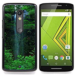 - Waterfall Green/ Hard Snap On Cell Phone Case Cover - Cao - For Motorola Verizon DROID MAXX 2 / Moto X Play