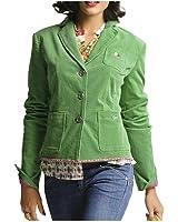 ALBA MODA Damen-Blazer Cordblazer Grün