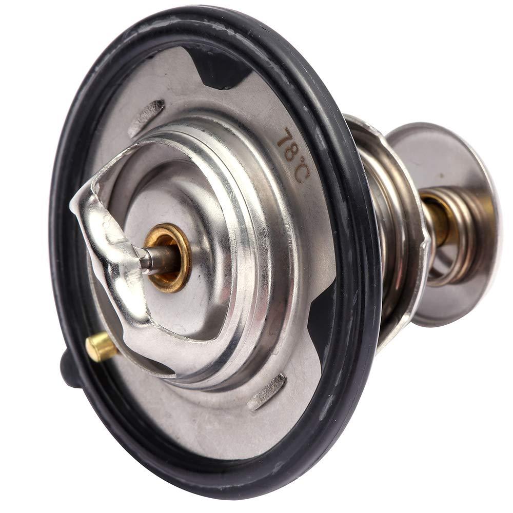 ROADFAR Engine Coolant Thermostat 19301-P8E-A10 Fit for 1996-2014 Acura TL,2002-2005 Honda Civic,2003-2015 Honda Pilot,2000-2009 Honda S2000 Thermostat Housing Assembly