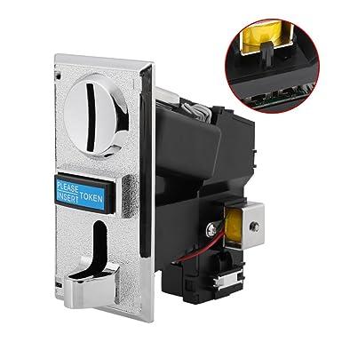 Selector de Monedas de CPU Aceptador de Monedas Múltiples para Máquina Expendedora de Mecanismo Ranura de Receptor de Monedas para Juego de Arcade: ...