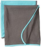 Baby K'tan Newborn Swaddle & Toddler Blanket, Teal/Charcoal offers