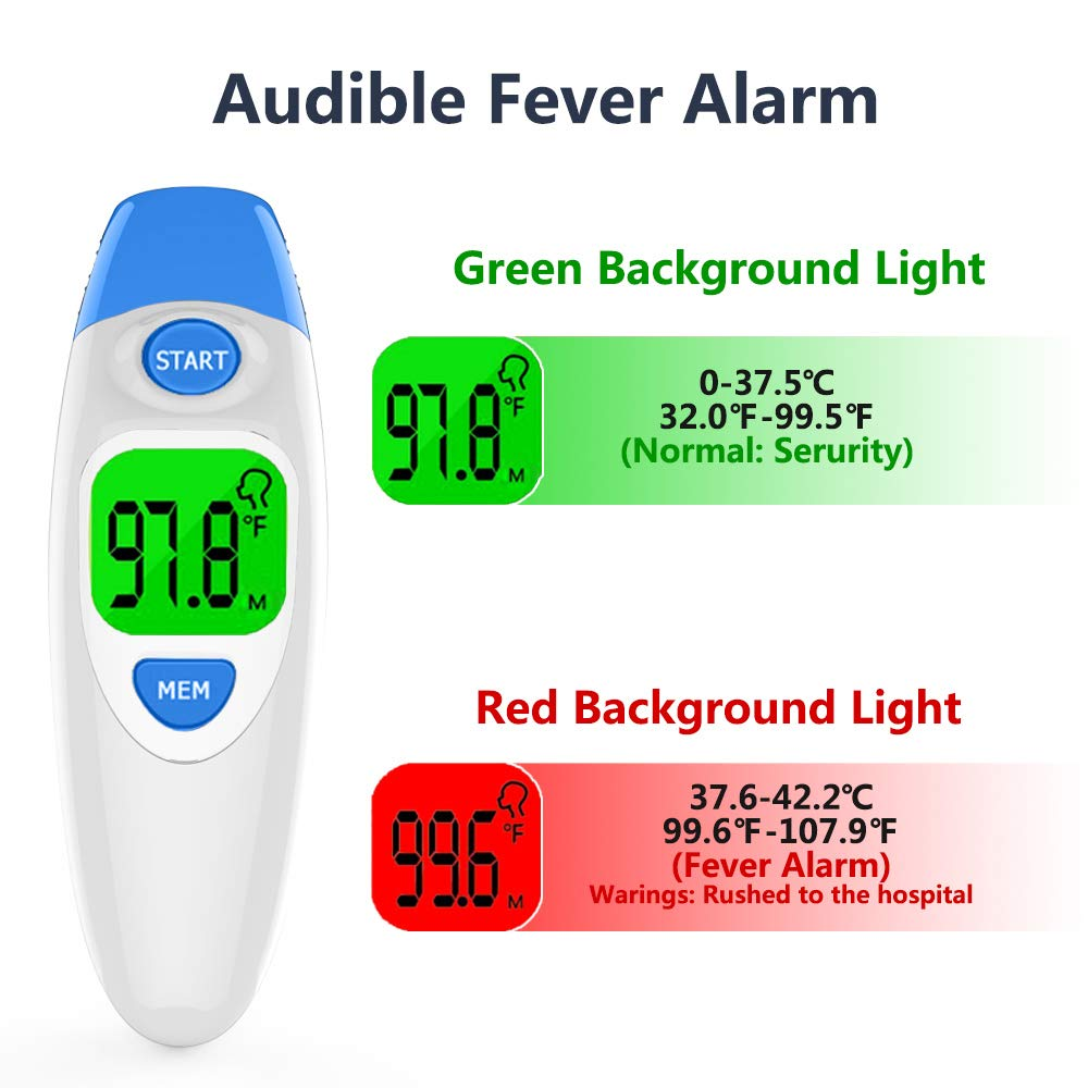 Amazon.com : Hobest Baby Thermometer, Digital Clinical Infrared Forehead and Ear Thermometer for Toddler Infant Kids Children Adult with Fast Accurate Fever ...