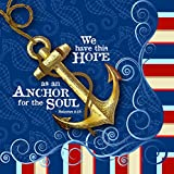 We Have This Hope As An Anchor To Soul 20 Count 3-Ply Paper Luncheon Napkins Pack of 2