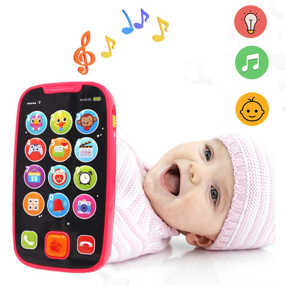 LUKAT Early Educational Baby Phone Baby Smartphone Toys for 12 Months Pretend Touch Phone with Sound and Music by LUKAT