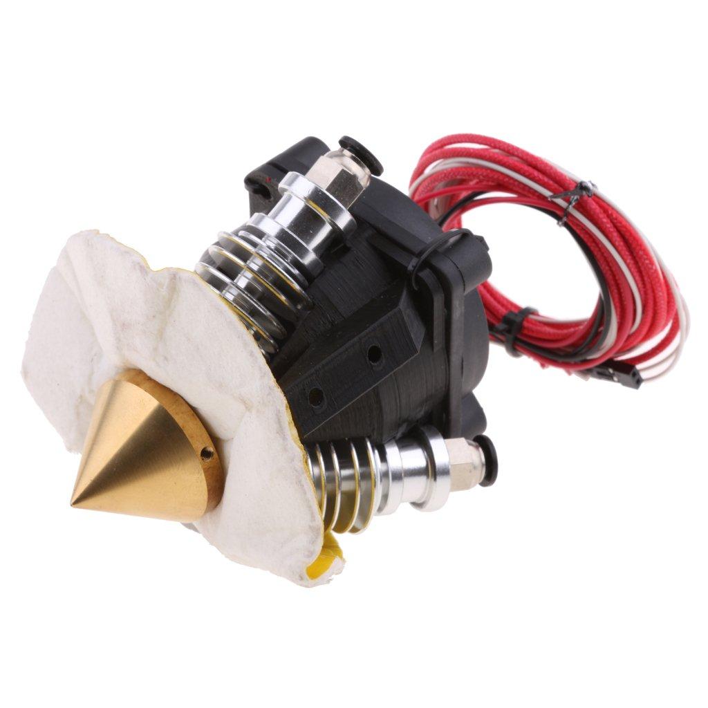 Dolity Diamond Extruder J-head Hotend 3D V6 Heatsink with Fan 3D Printer Accessories