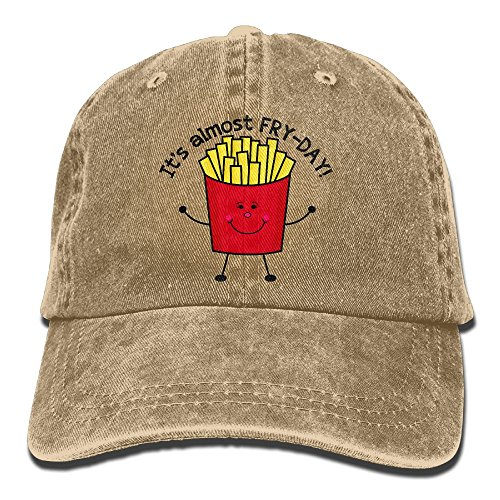 Fry Futurama Costume (Suaop Fry Day Unisex Vintage Washed Distressed Cotton Hat Leisure Baseball Cap Polo Style Natural)