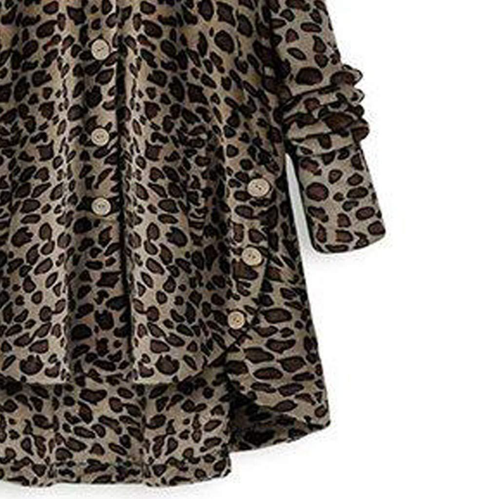 soffice Calda Felpa Invernale da Donna con Cappuccio Motivo Leopardato Felpa da Donna con Cappuccio Oversize alla Moda