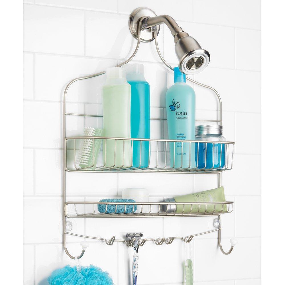 Amazon.com: InterDesign Cero Hanging Shower Caddy – Wide Bathroom ...