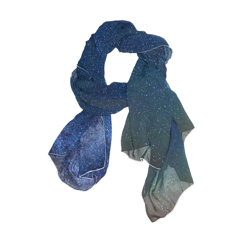 JSTEL Women Elegant Fashion Soft Large Silk chiffon Scarf with Star Space Pattern E92