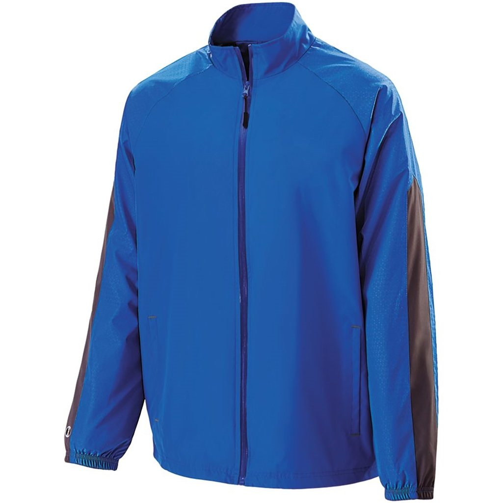 Holloway Youth Bionic Jacket (Large, Royal/Carbon) by Holloway