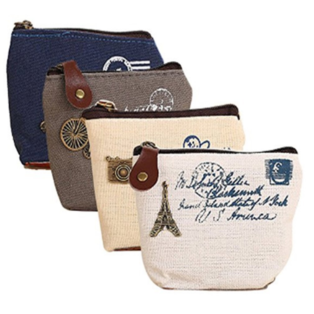 Amazon.com: Pack of 4 Retro Wallet Purse with Canvas Wallet ...