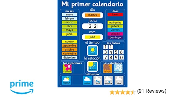 Fridgemagic Mi Primer Calendario Magnético - Placa rígida de 40 x ...