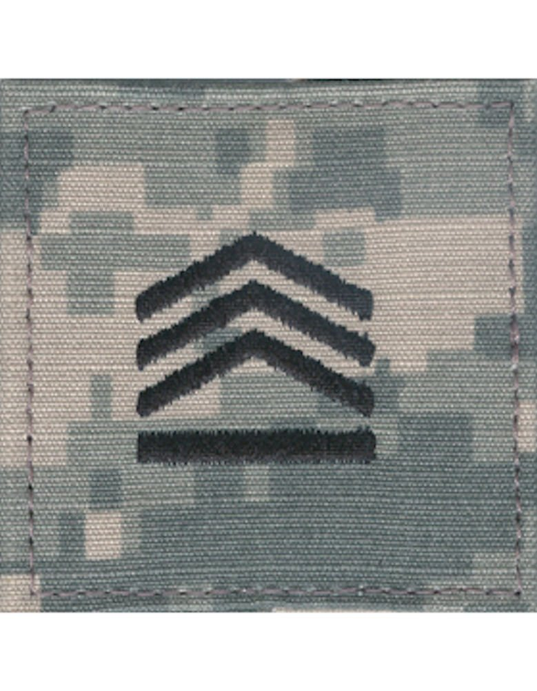 Army ROTC Rank with HOOK Fastener - ACU DIGITAL (Cadet - Staff SGT)