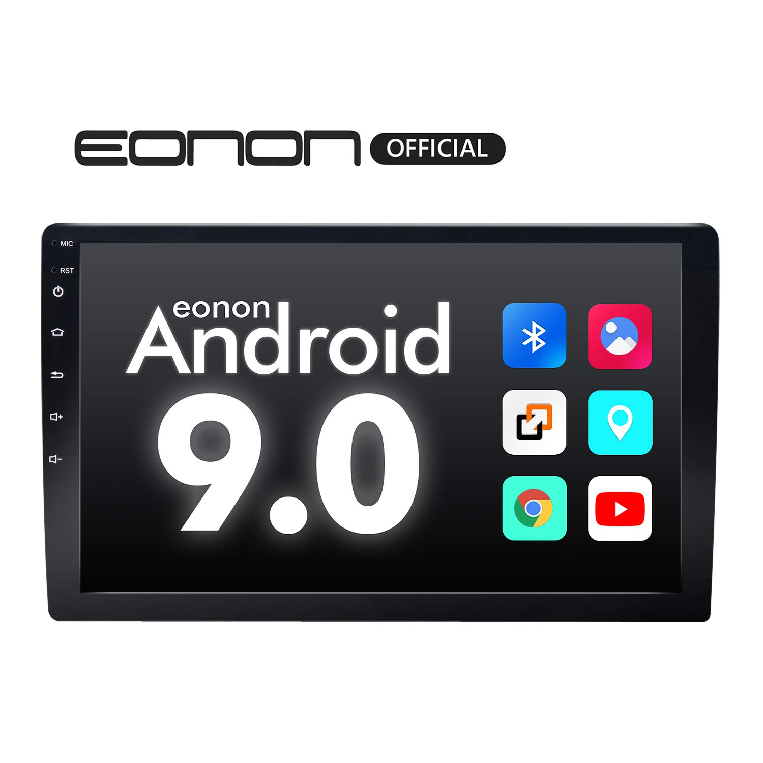 Car Stereo,Double Din Car Stereo, Eonon Car Radio 10.1 Inch GPS Navigation for Car,Support Android Auto and Carplay Head Unit Support WiFi/Fast Boot/DVR/Backup Camera/OBDII-(NO DVD/CD)-GA2178 by Eonon